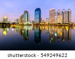 city downtown at night with... | Shutterstock . vector #549249622