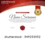 vector certificate template. | Shutterstock .eps vector #549253552