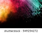 freeze motion of colored dust... | Shutterstock . vector #549254272
