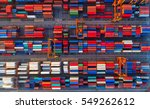 container ship in export and... | Shutterstock . vector #549262612