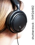 Young Woman With Headphones...