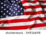 american flag as background for ... | Shutterstock . vector #54926698