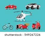 cartoon character  set vehicle. ... | Shutterstock .eps vector #549267226