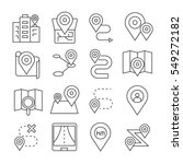 map navigation icons on white... | Shutterstock .eps vector #549272182