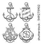 vector illustration nautical... | Shutterstock .eps vector #549275902