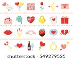 valentine colorful icon set