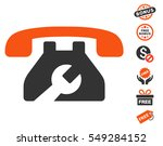 repair service phone icon with... | Shutterstock .eps vector #549284152