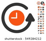 restore clock pictograph with... | Shutterstock .eps vector #549284212
