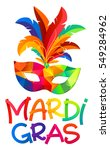 mardi gras colorful carnival... | Shutterstock .eps vector #549284962