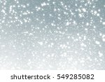 snowflakes particles and bokeh... | Shutterstock . vector #549285082