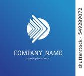 logo design arrow vector... | Shutterstock .eps vector #549289072