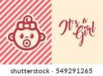 pink baby shower invite... | Shutterstock .eps vector #549291265