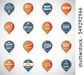 set of vintage badges and labels | Shutterstock .eps vector #549292966