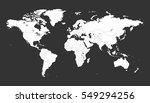 blank white political world map ... | Shutterstock .eps vector #549294256