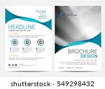 brochure template flyer... | Shutterstock .eps vector #549298432