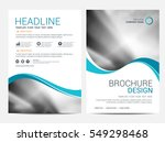 brochure template flyer... | Shutterstock .eps vector #549298468