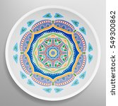 decorative plate with round... | Shutterstock .eps vector #549300862
