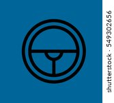 steering wheel icon flat disign   Shutterstock . vector #549302656