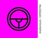 steering wheel icon flat disign   Shutterstock . vector #549302746