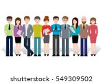 group of creative people ... | Shutterstock .eps vector #549309502