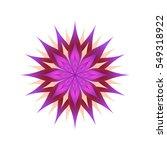 bright flower on a white... | Shutterstock .eps vector #549318922