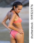 harmonous athletic tanned young ... | Shutterstock . vector #549321976