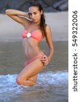 harmonous athletic tanned young ... | Shutterstock . vector #549322006