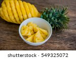 Pineapple Slices And Pineapple...