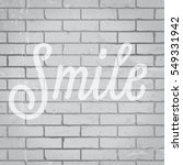 hand drawn lettering slogan on... | Shutterstock .eps vector #549331942