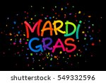 rainbow colors vector mardi... | Shutterstock .eps vector #549332596