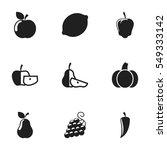 set of 9 editable cookware... | Shutterstock . vector #549333142