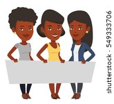 three young african american... | Shutterstock .eps vector #549333706