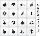 set of 16 editable cooking... | Shutterstock . vector #549334315