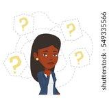 african american businesswoman... | Shutterstock .eps vector #549335566