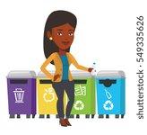 Girl Throwing Away Plastic...