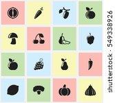 set of 16 editable food and...