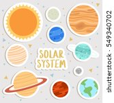 big set of cute cartoon planets ... | Shutterstock .eps vector #549340702