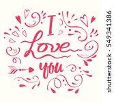 vector calligraphic phrase for... | Shutterstock .eps vector #549341386