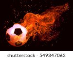 Image Of Soccer Ball In Fire...