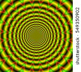 Hypnotic Rings In Yellow Green...