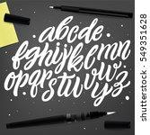 vector hand drawn alphabet.... | Shutterstock .eps vector #549351628