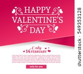 template design valentine... | Shutterstock .eps vector #549353128