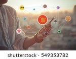 onlien shopping concept... | Shutterstock . vector #549353782