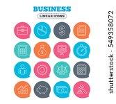 business icons. businessman ... | Shutterstock . vector #549358072