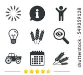agricultural icons. wheat corn... | Shutterstock . vector #549359128