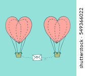 valentines day greeting card... | Shutterstock .eps vector #549366022