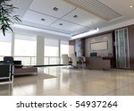 an office room with nobody. 3d... | Shutterstock . vector #54937264