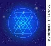 sacred geometry simbol in space.... | Shutterstock .eps vector #549376402