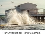 Storm Surges From The Sea  On...