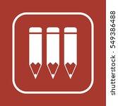 pencil icon vector.  flat... | Shutterstock .eps vector #549386488